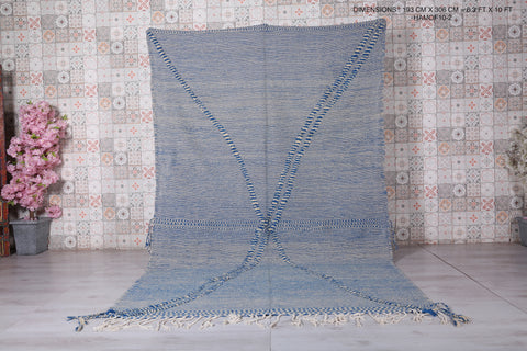 Moroccan hand woven rug 6.3 FT X 10 FT