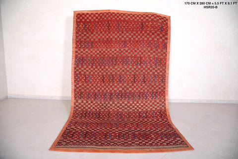 Astonishing Moroccan handwoven Hassira,  5.7 FT X 9.3 FT