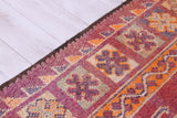 Vintage Berber carpet 5.9 FT X 11.8 FT