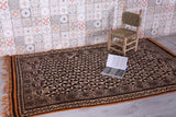Hand knotted berber rug 4.9 FT X 7.8 FT