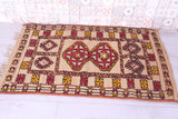 Moroccan hassira rug 3.5 FT X 5.6 FT