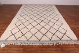Authentic Beni ourain rug 8 FT X 11.6 FT