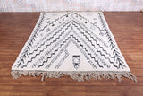 Moroccan Beni ourain rug, 6.1 FT X 8.3 FT