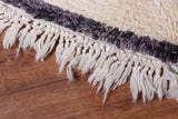 All wool moroccan rug 5 FT X 9.4 FT