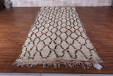 All Wool moroccan rug, 5.2 FT X 12.1 FT, Vintage berber carpet