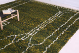 Green Moroccan rug , Custome Berber carpet