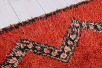 Vintage moroccan red rug 2.6 FT X 9 FT