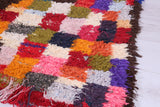 Gorgeous Boucherouite rug,  4.3 FT X 6.5 FT