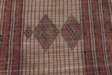 Tuareg Mat North African Rug 6.3 FT X 9.1 FT
