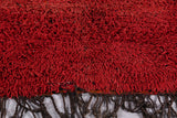 Moroccan Solid red rug 6.7 FT X 10.4 FT
