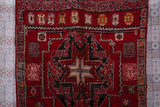 Old Long Bohemian rug 6.4 FT X 13.7 FT