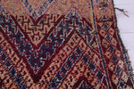 Old Moroccan rug 5 FT X 8.7 FT