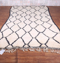 Berber Moroccan rug, Beni ourain rug, 5.5 FT X 10.2 FT