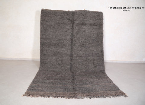 Gray Berber rug 6.4 FT X 10.2 FT