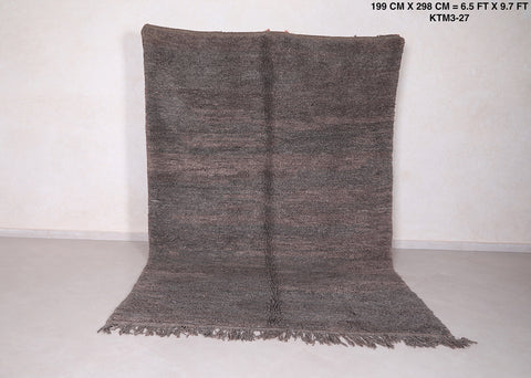 Solid gray rug 6.5 FT X 9.7 FT