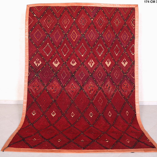 Fabulous Moroccan Straw Berber Wool Rug ( 5.9 FT X 8.9 FT )