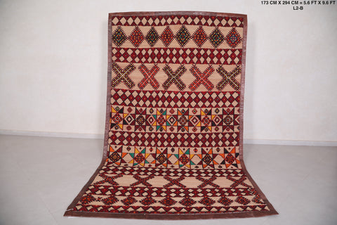 Berber Straw Moroccan Rug ( 6 FT X 9.9 FT)