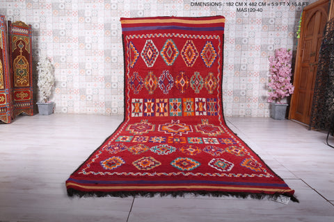 Long Moroccan rug 5.9 FT X 15.8 FT