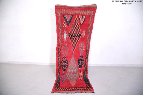 Moroccan Runner rug, 2.8 FT X 7.9 FT