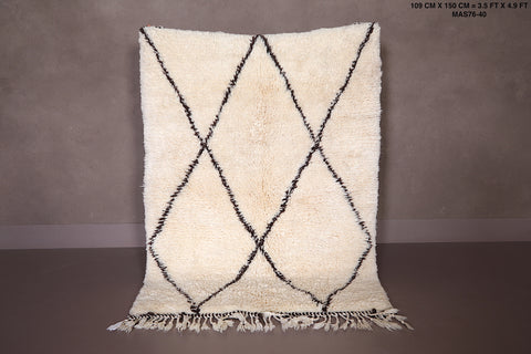 Berber rug, Moroccan rug, Hand knotted rug, Wool rug,  3.5 FT X 4.9 FT