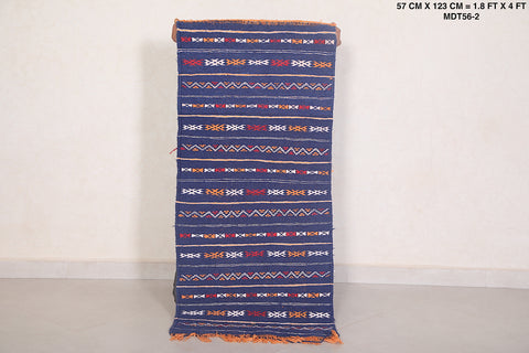 Hand woven moroccan rug, 1.8 FT X 4 FT
