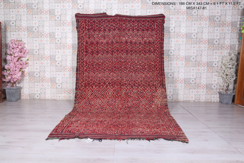 Runner moroccan rug 6.1 FT X 11.2 FT