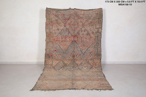 Moroccan Berber carpet 5.6 FT X 10.4 FT