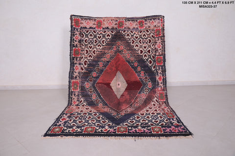 Antique Moroccan rug, 4.4 FT X 6.9 FT