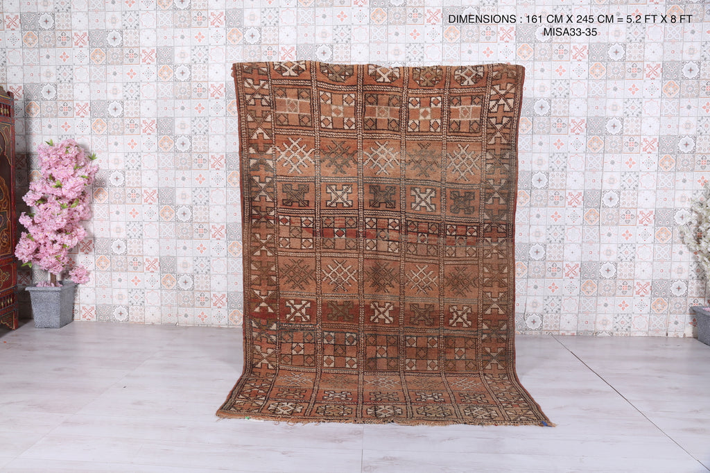 Moroccan rug, 5.2 ft x 8 ft