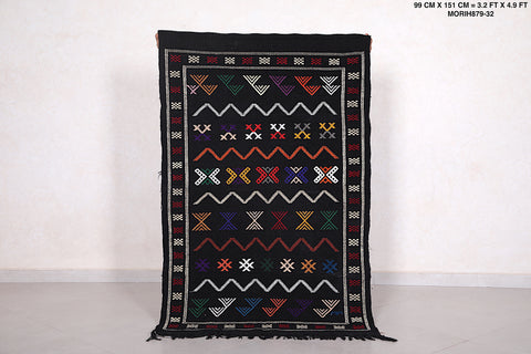Authentic Handwoven Moroccan rug, 3.2 FT X 4.9 FT