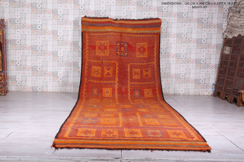 Large moroccan rug, 6.3 FT X 16.2 FT