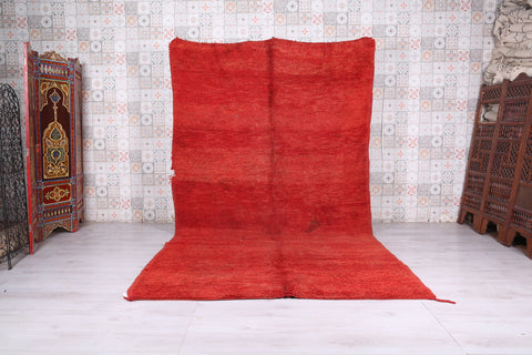 Moroccan rug red 6.4 FT X 11.3 FT