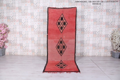 Runner Moroccan rug 3.4 FT X 8.5 FT