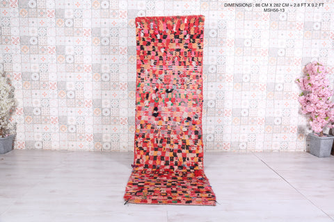 Moroccan rug 2.8 FT X 9.2 FT