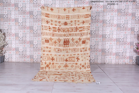 Moroccan wedding Blanket, 5 FT X 9 FT