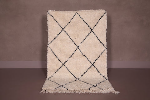 Small Beni ourain rug, 3 FT X 4.8 FT