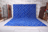 All Beni ourain rug blue 10.3 FT X 14.5 FT