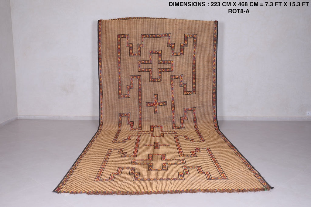 Stunning & Stylish Tuareg Reed Mat (7.3ft x 15.3ft)