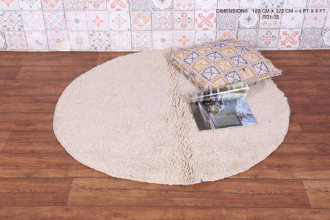 Round Moroccan rug 4 FT X 4 FT