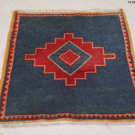 Moroccan Blue rug, 2.4 FT X 3 FT