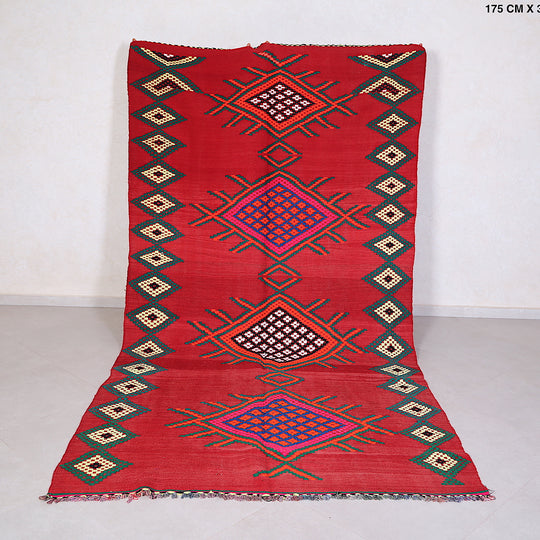Fabulous red kilim, 5.7 FT X 11.1 FT