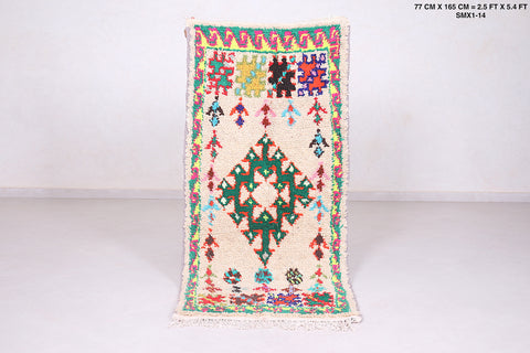 Vintage Moroccan area rug 2.5 FT X 5.4 FT
