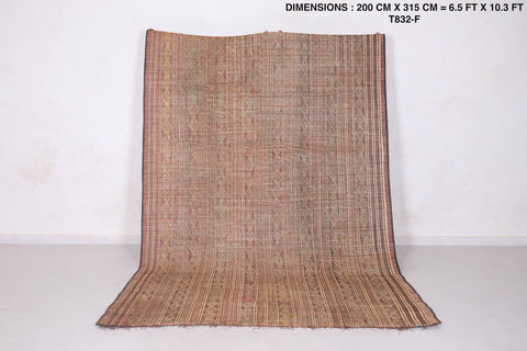 North African Tuareg Rug  6.5 FT X 10.3 FT