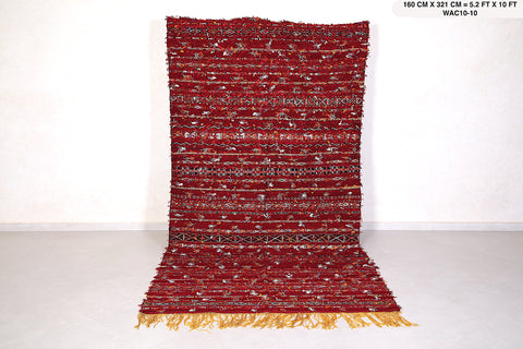 Gorgeous handwoven kilim 5.2 FT X 10 FT