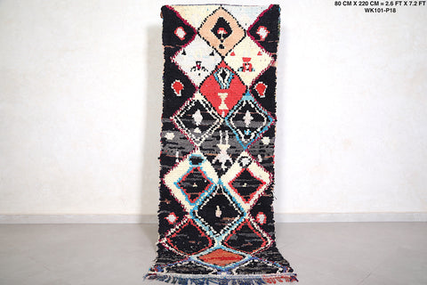 Runner Moroccan rug 2.6 FT X 7.2 FT