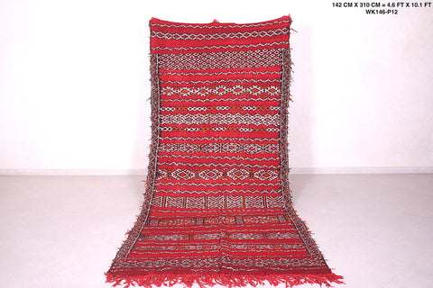 Runner Moroccan rug,  4.6 FT X 10.1 FT