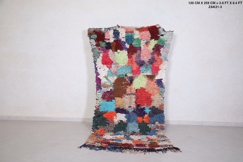 Colorful Moroccan berber rug 3.9 FT X 8.4 FT