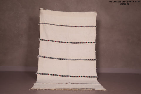 Wedding berber blanket, 3.9 FT X 6.4 FT