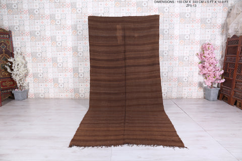 Long Berber blanket, in Brown,5 FT X 10.9 FT