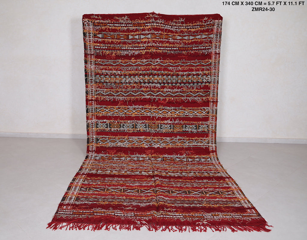 Large Berber rug, 5.7ft x 11.1ft